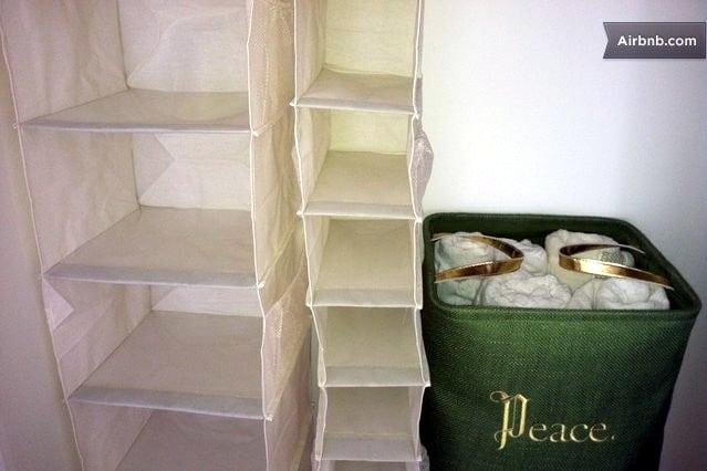 Plenty of closet space and supersoft Ralph Lauren towels.