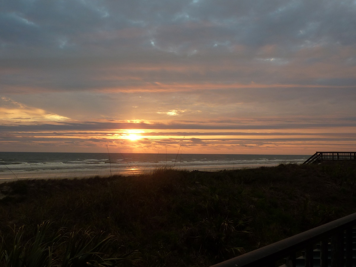 Sunrise from the balcony. The start of another beautiful day!