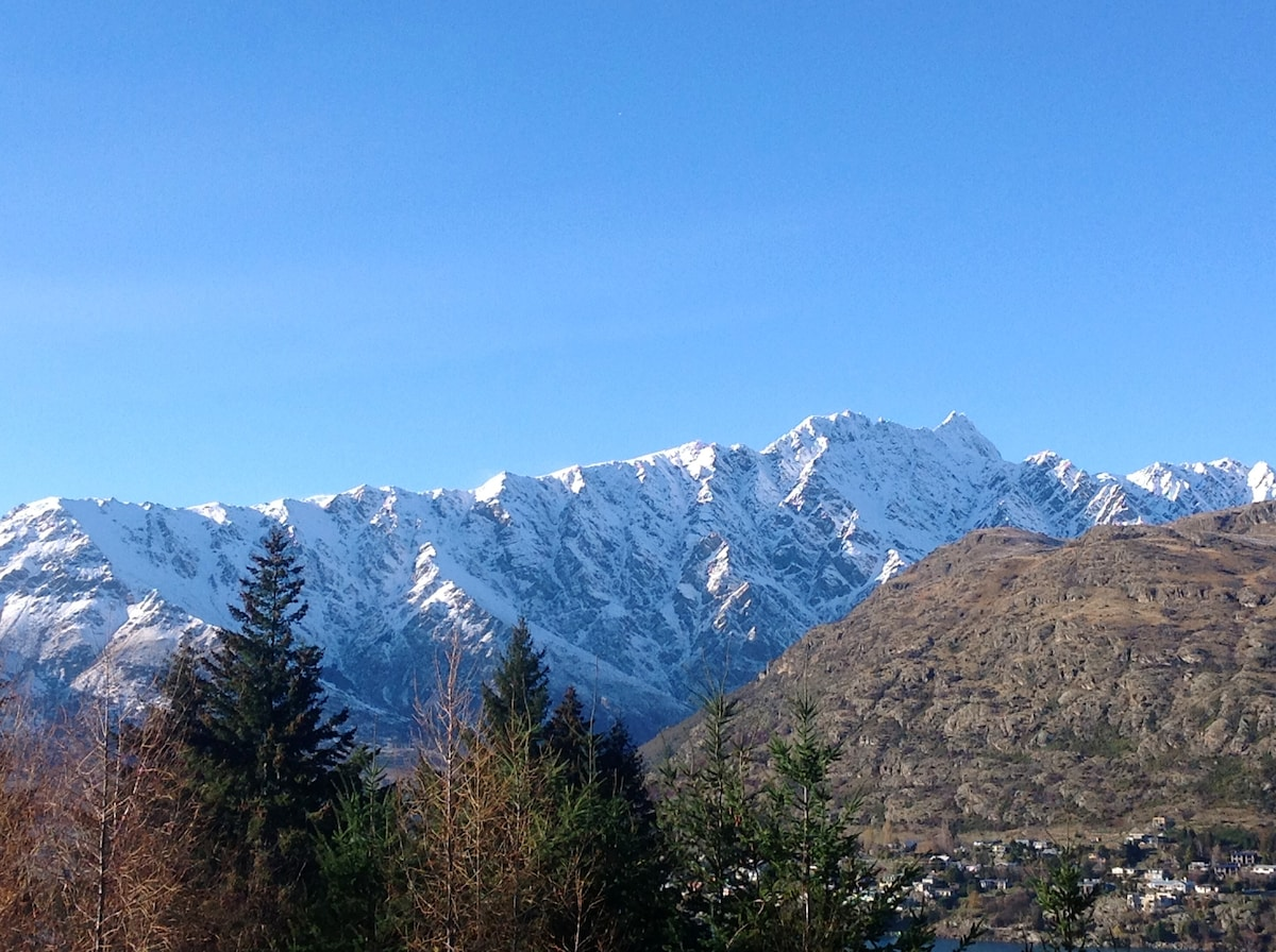The amazing Remarkables from the deck.