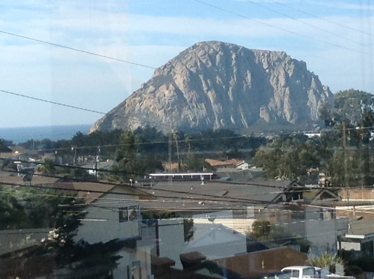 "Here is the view of the ""Rock"" from the dining room window! You feel like you can touch it!"