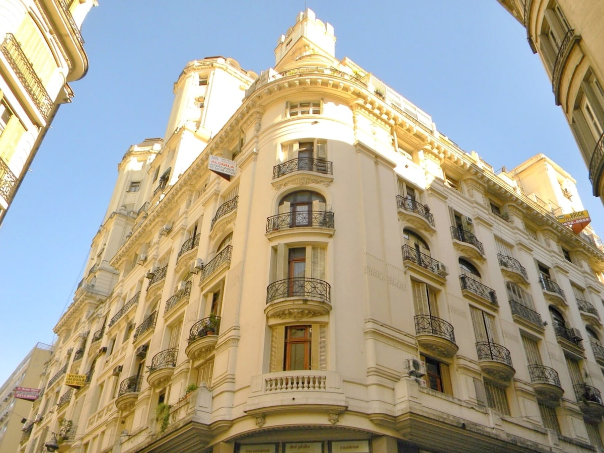 French style building. One of the most beautiful in the city. Protected as historic heritage by Buenos Aires's government