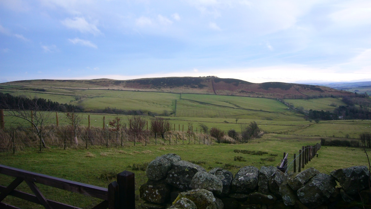 Typical winters view over thorngrafton