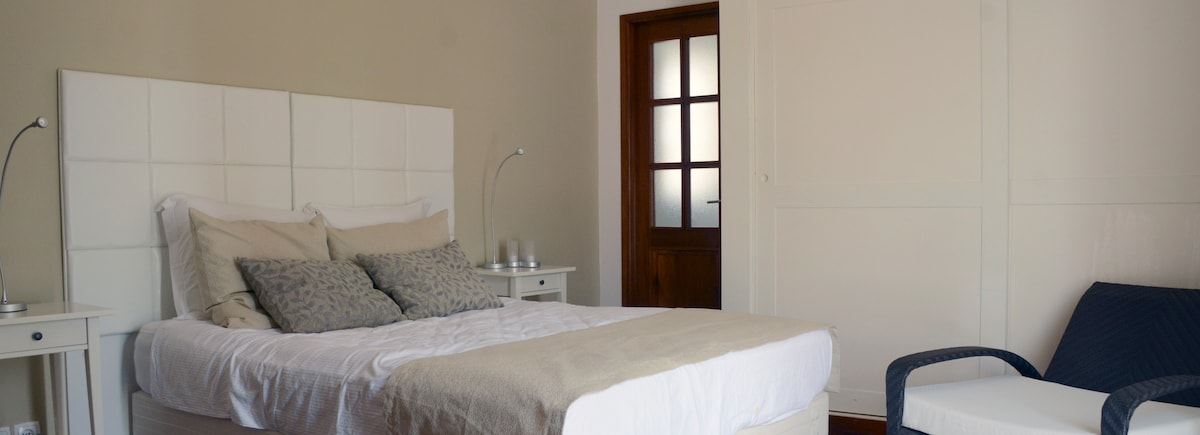The comfortable double bedroom