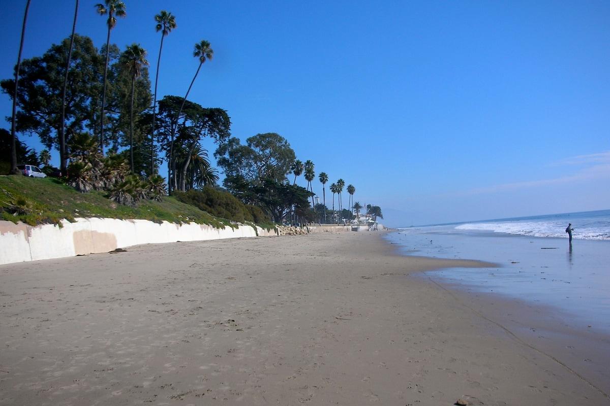 Beach - three blocks away