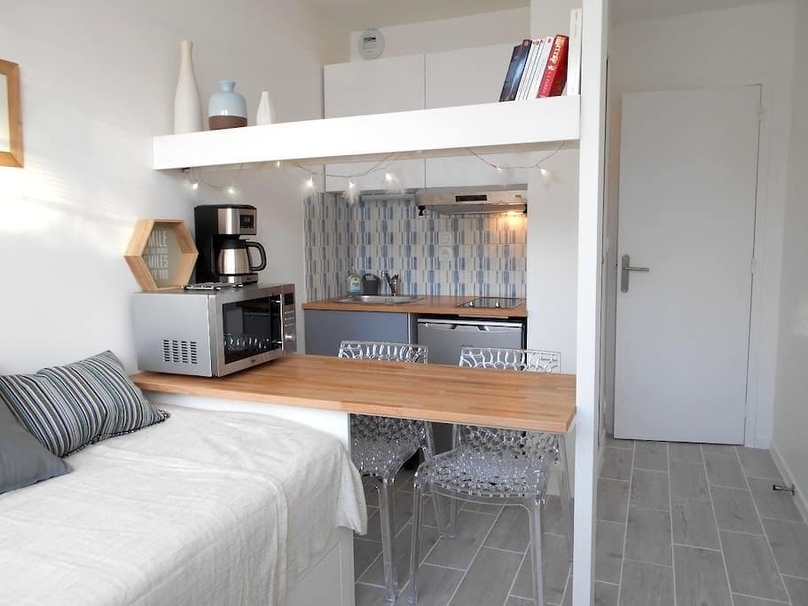 Njörd, a cosy studio flat a few steps from the sea - Dinard - Apartemen
