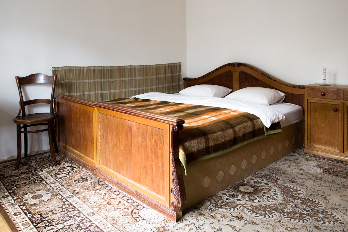 Comfy double bed