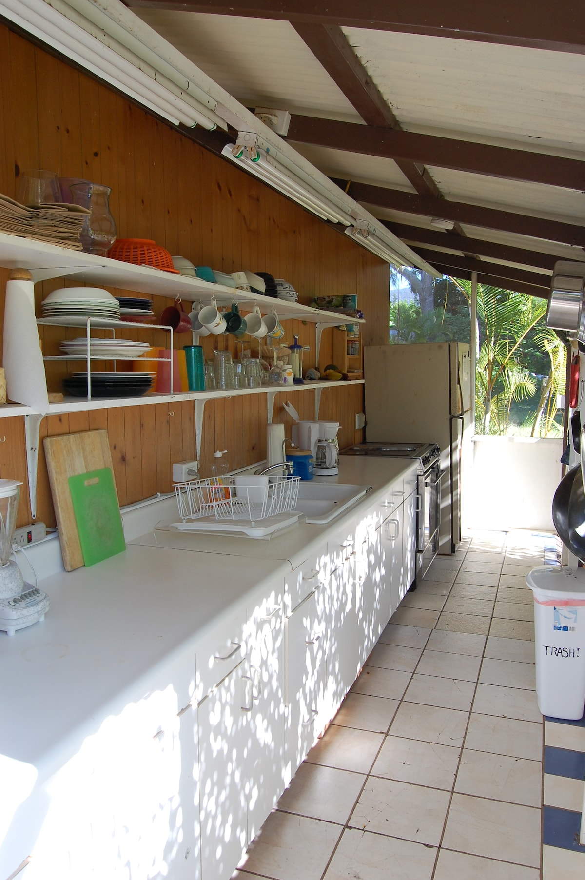 Fully stocked kitchen with all the essentials needed for your stay.