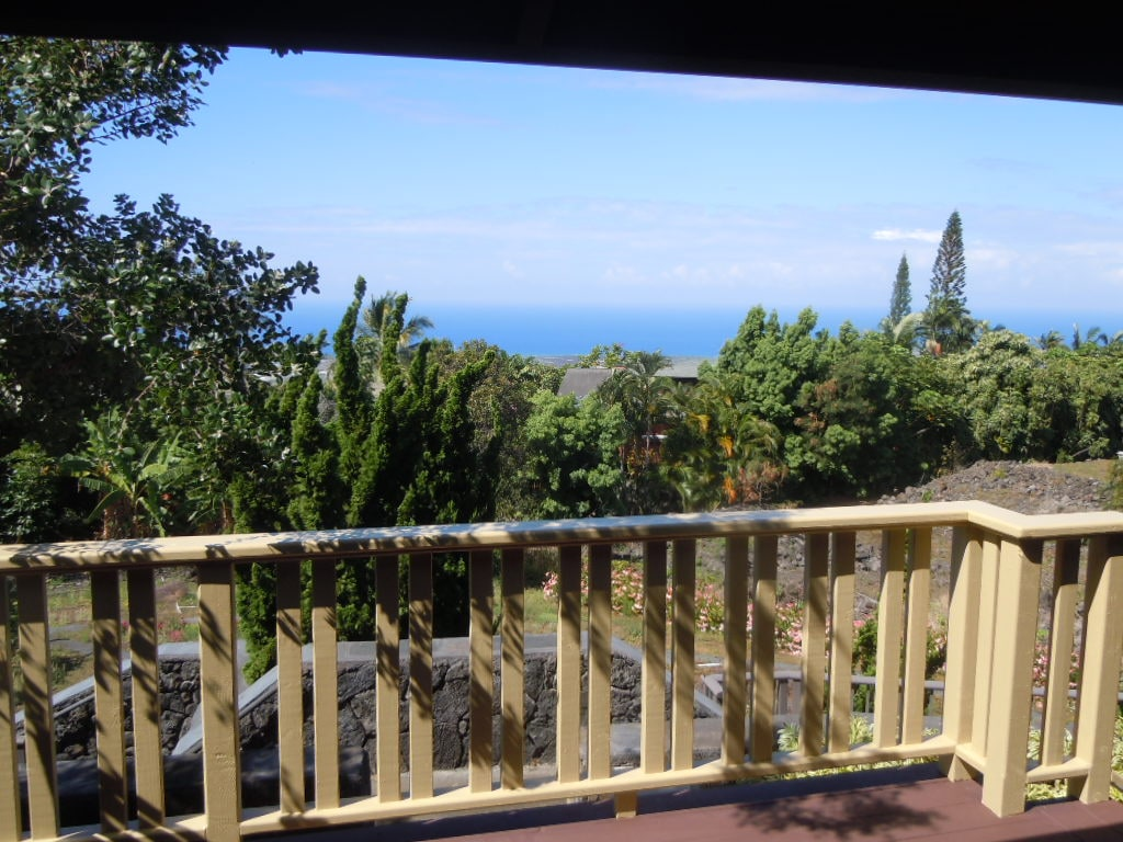 view from private lanai to ocean view