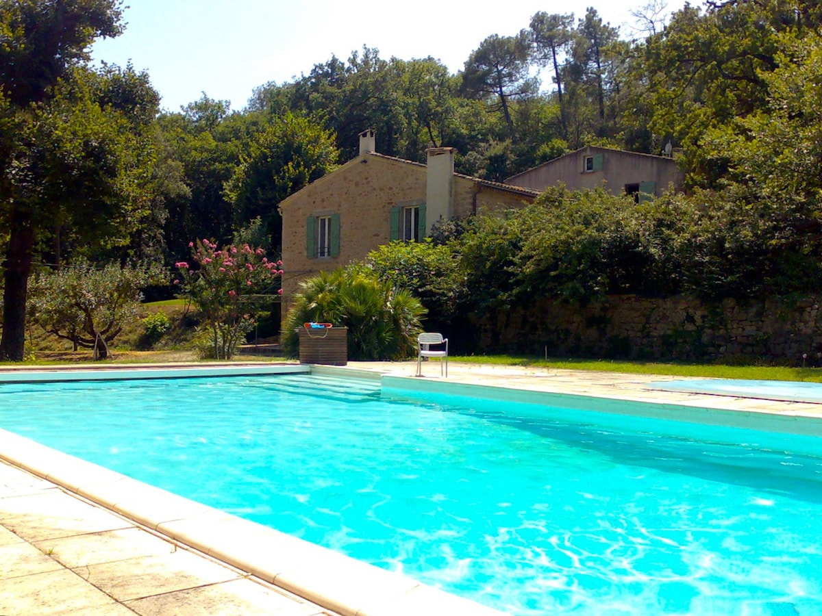 The large swimming pool(17x8m) available for B&B guests.