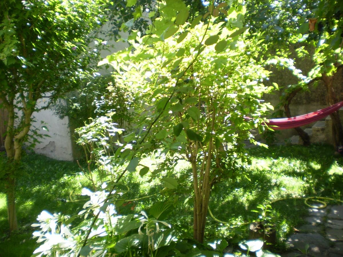 Un jardin clos et arboré, sans vis-à-vis
