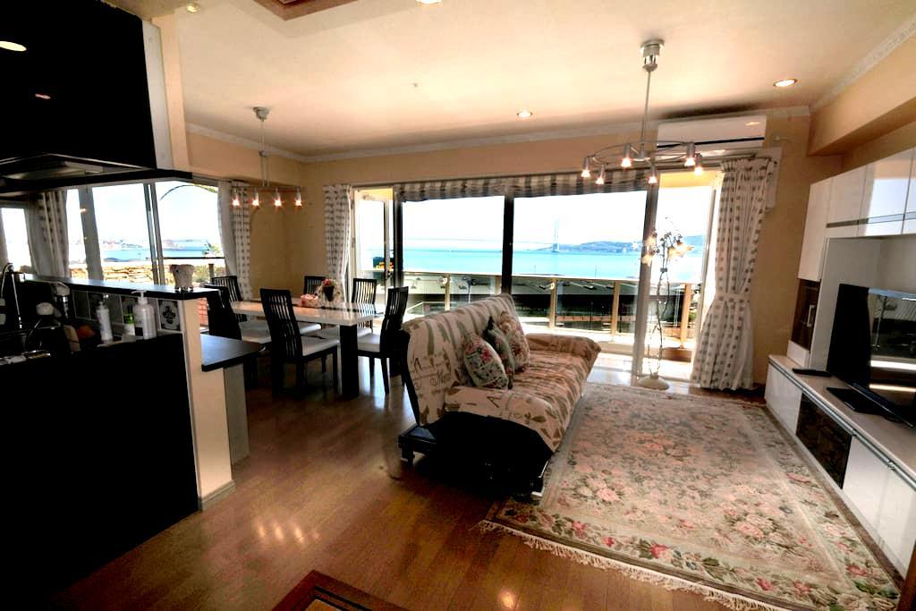 最上階からのパノラマオーシャンビュー。ビーチまですぐのリゾートで贅沢な時間を。 - Akashi-shi
