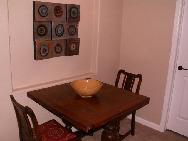 Eating Area off of Living Room - can have 4 chairs or only 2 - whatever you prefer!