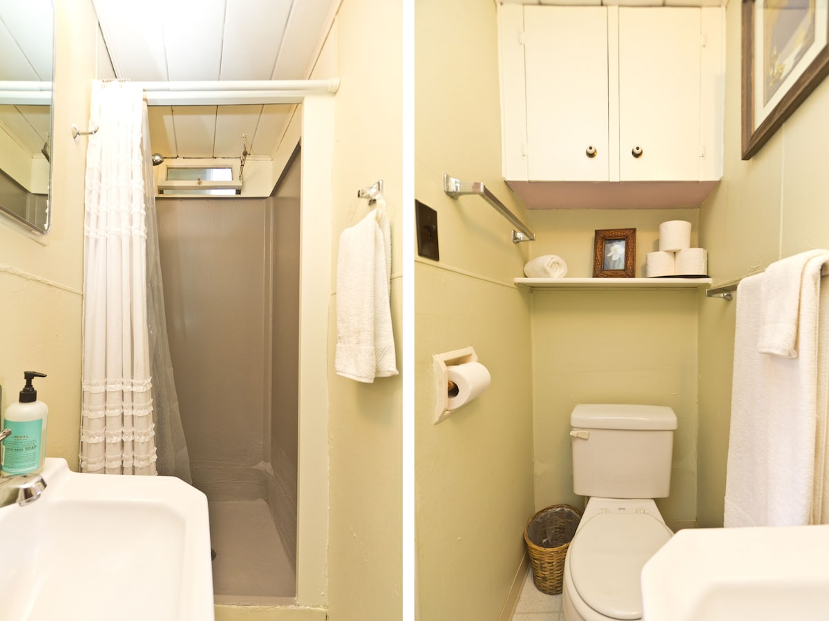 Clean, unshared bathroom