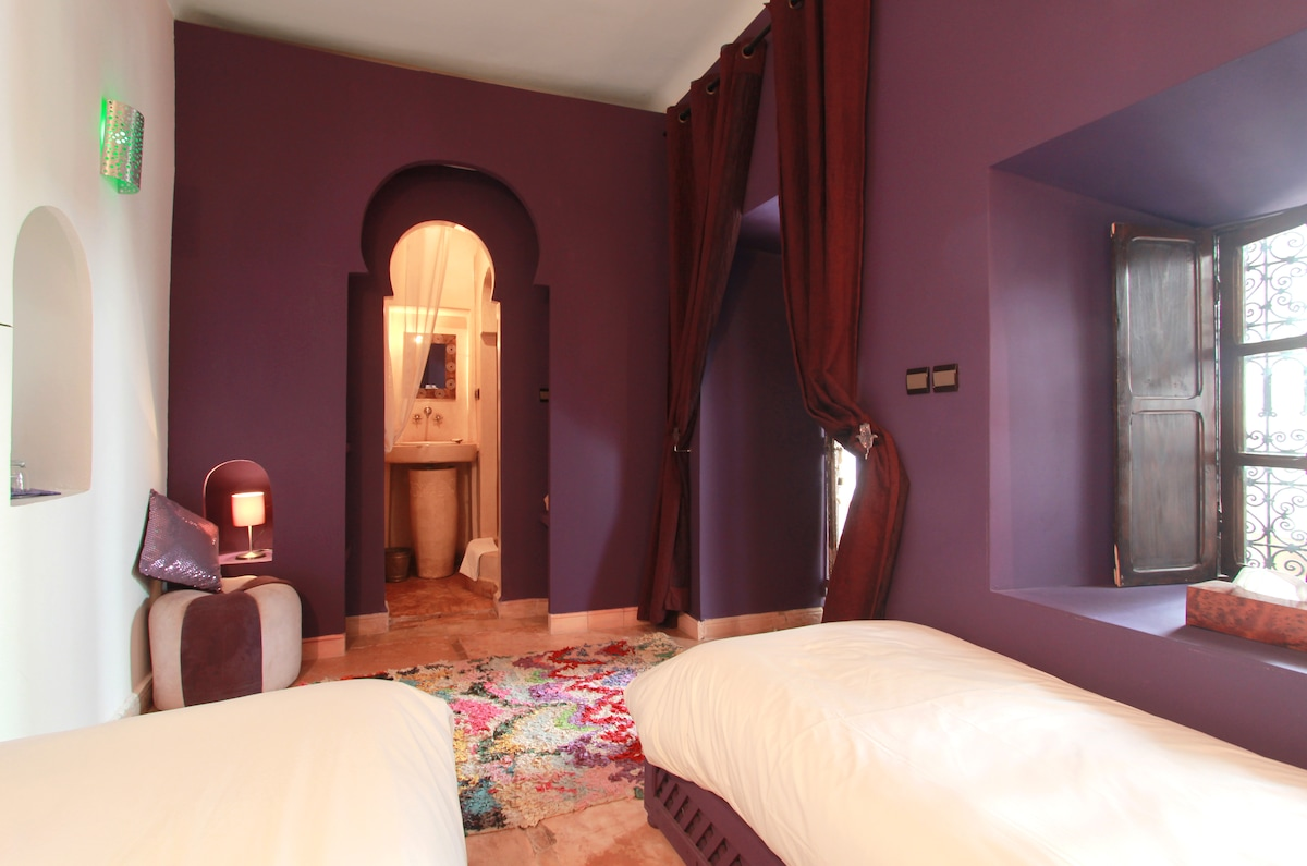 Leila Room at charming Riad Asna