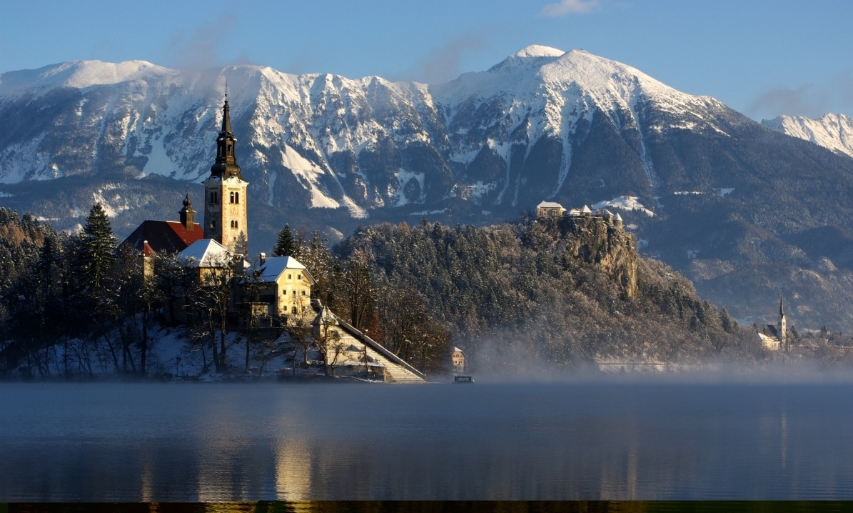 Bled lake in Winter