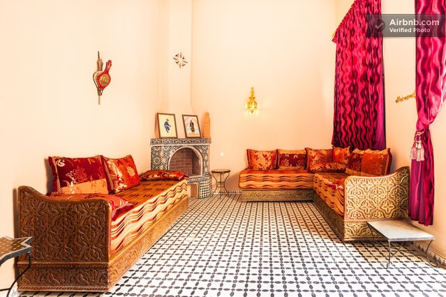 Moroccan Salon in the room