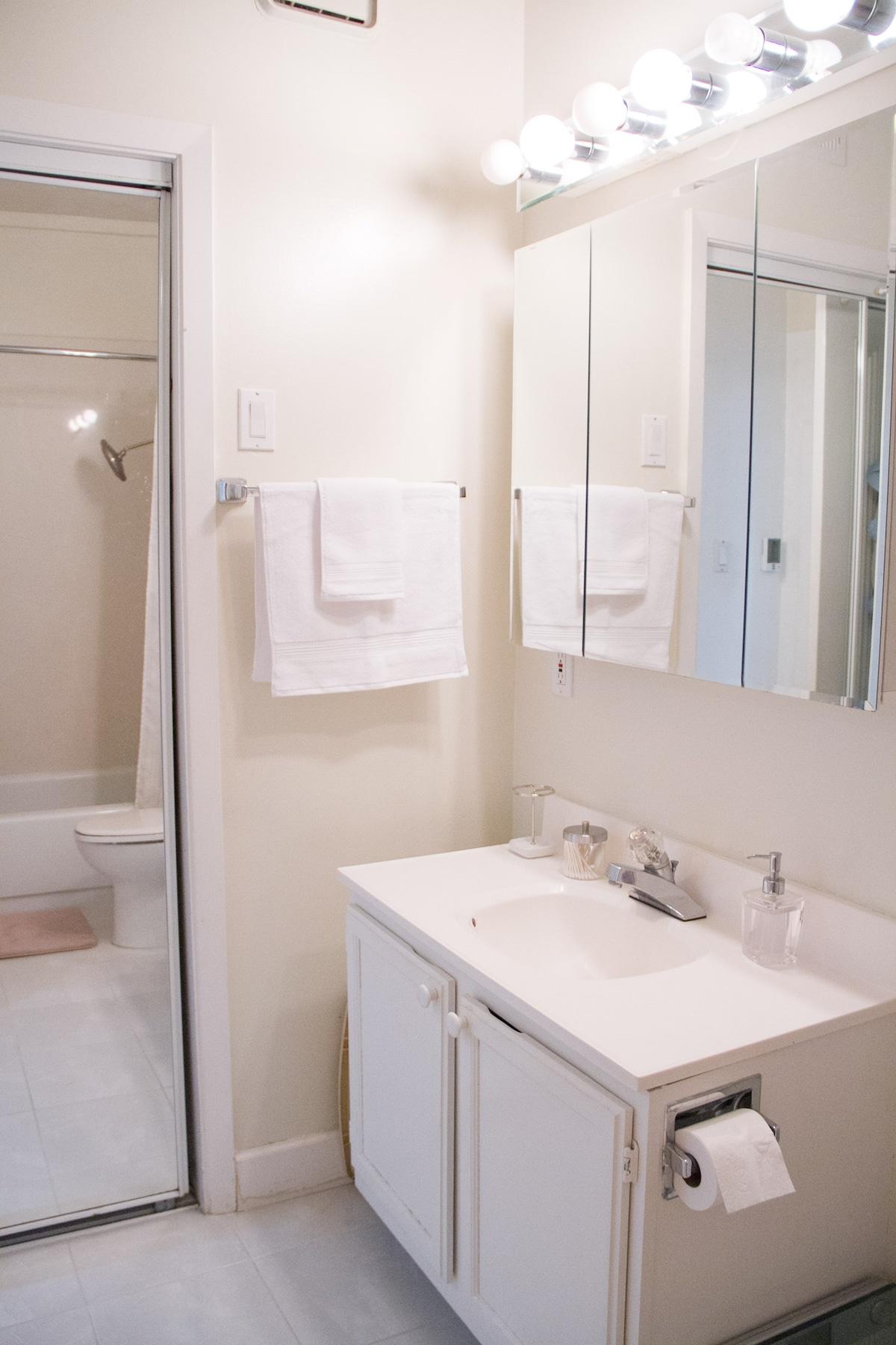 Private bathroom with Rainshower shower head