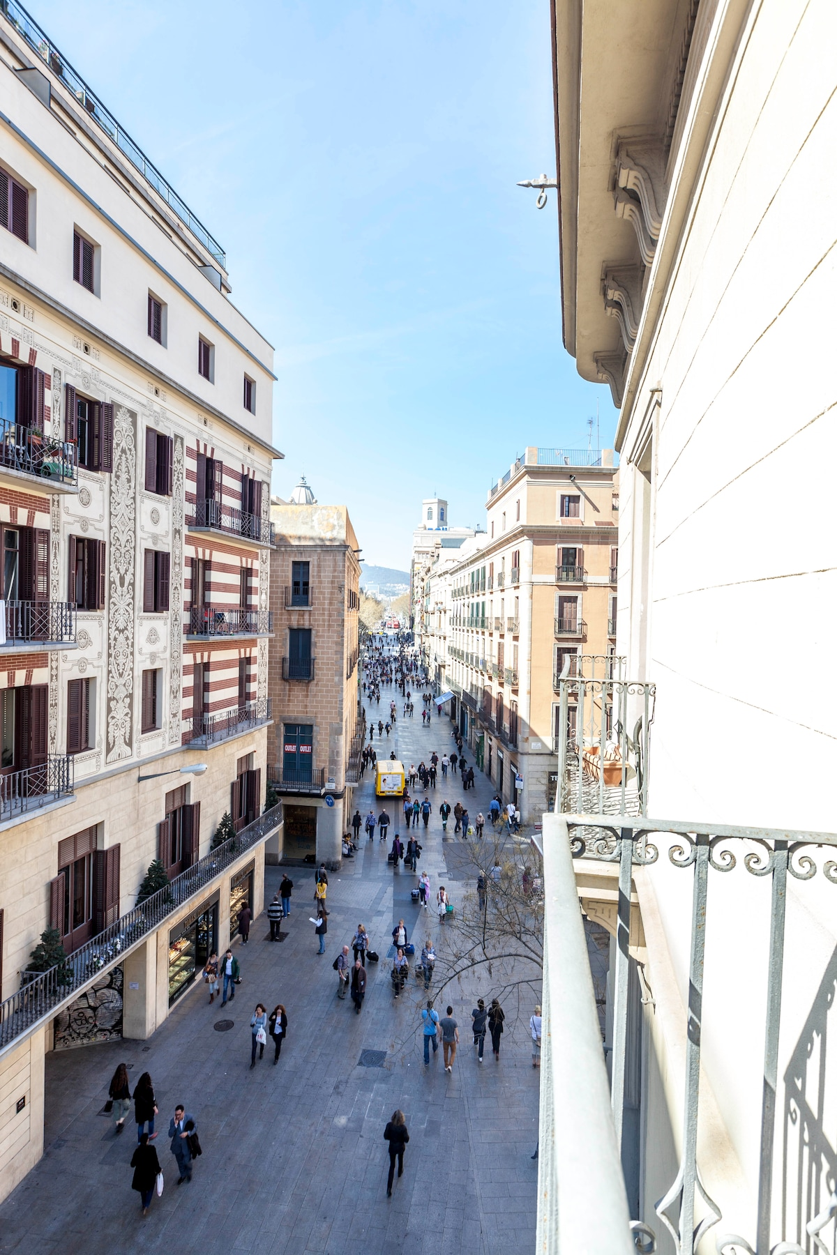 Balcony view of Placa Catalunya