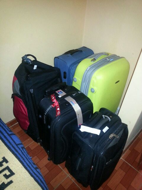 You can leave your luggage while you are traveling.