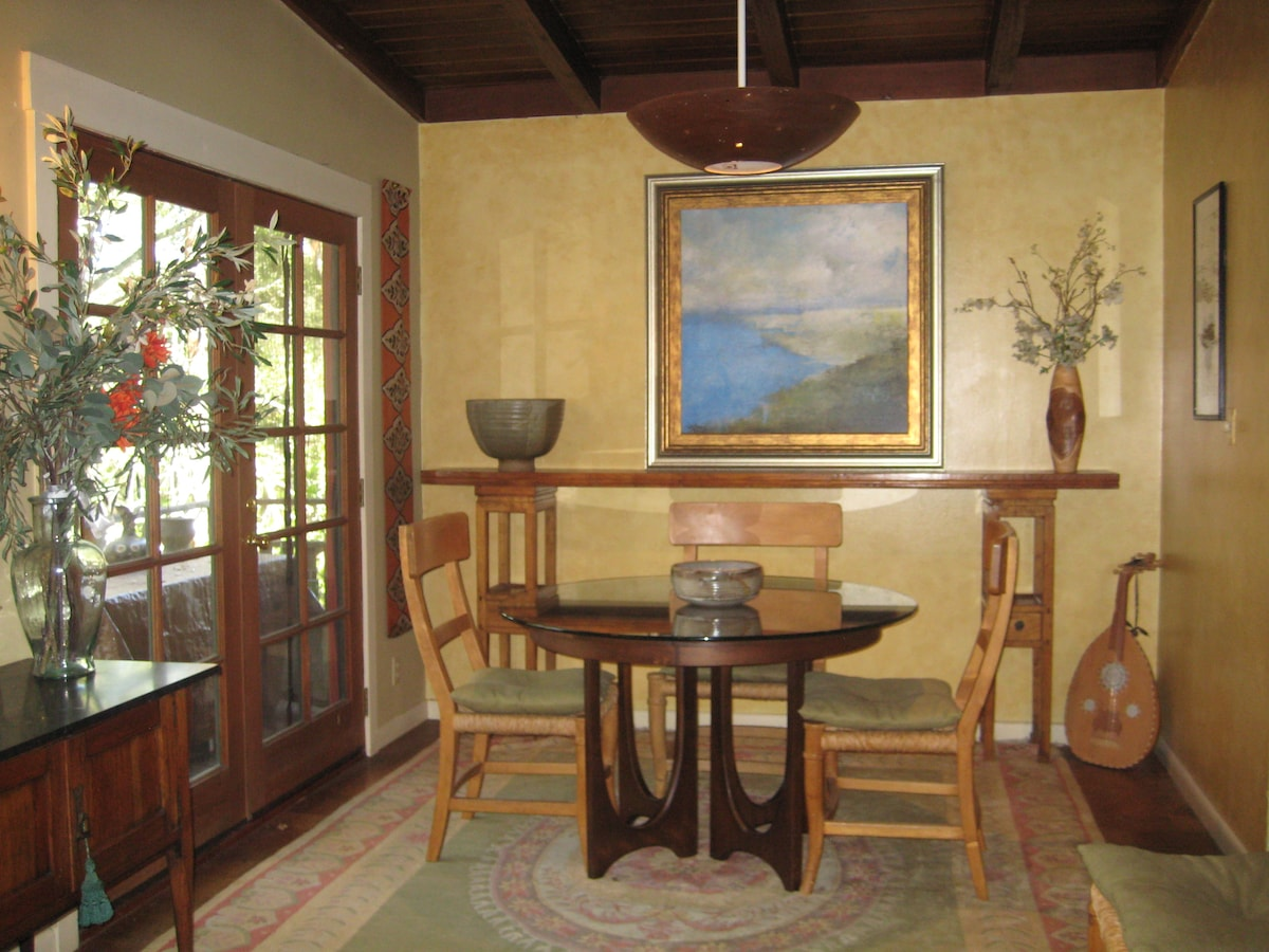 Captures the zen feeling of the Cottage...the dining room
