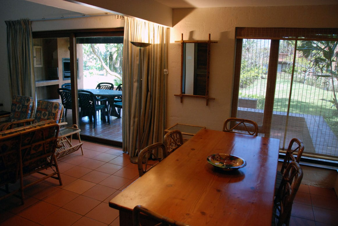 Dining/TV lounge and patio