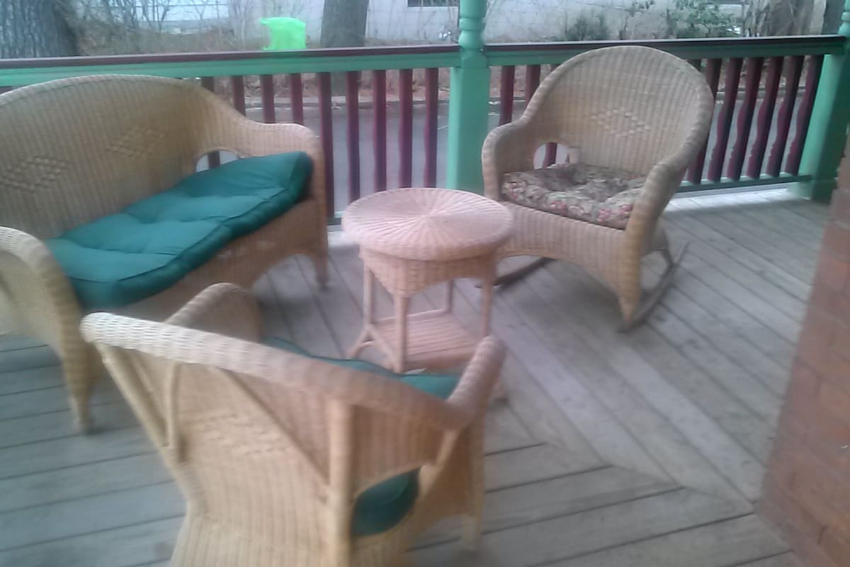 Wrap around porch furniture set.