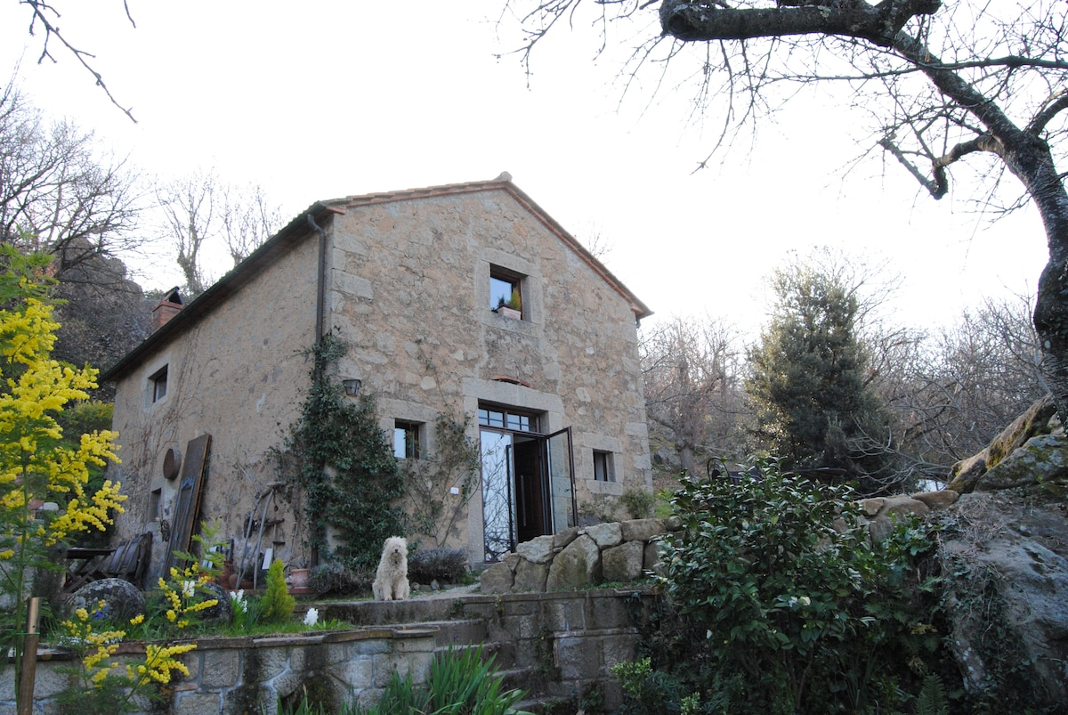 the chestnuts drying stone house