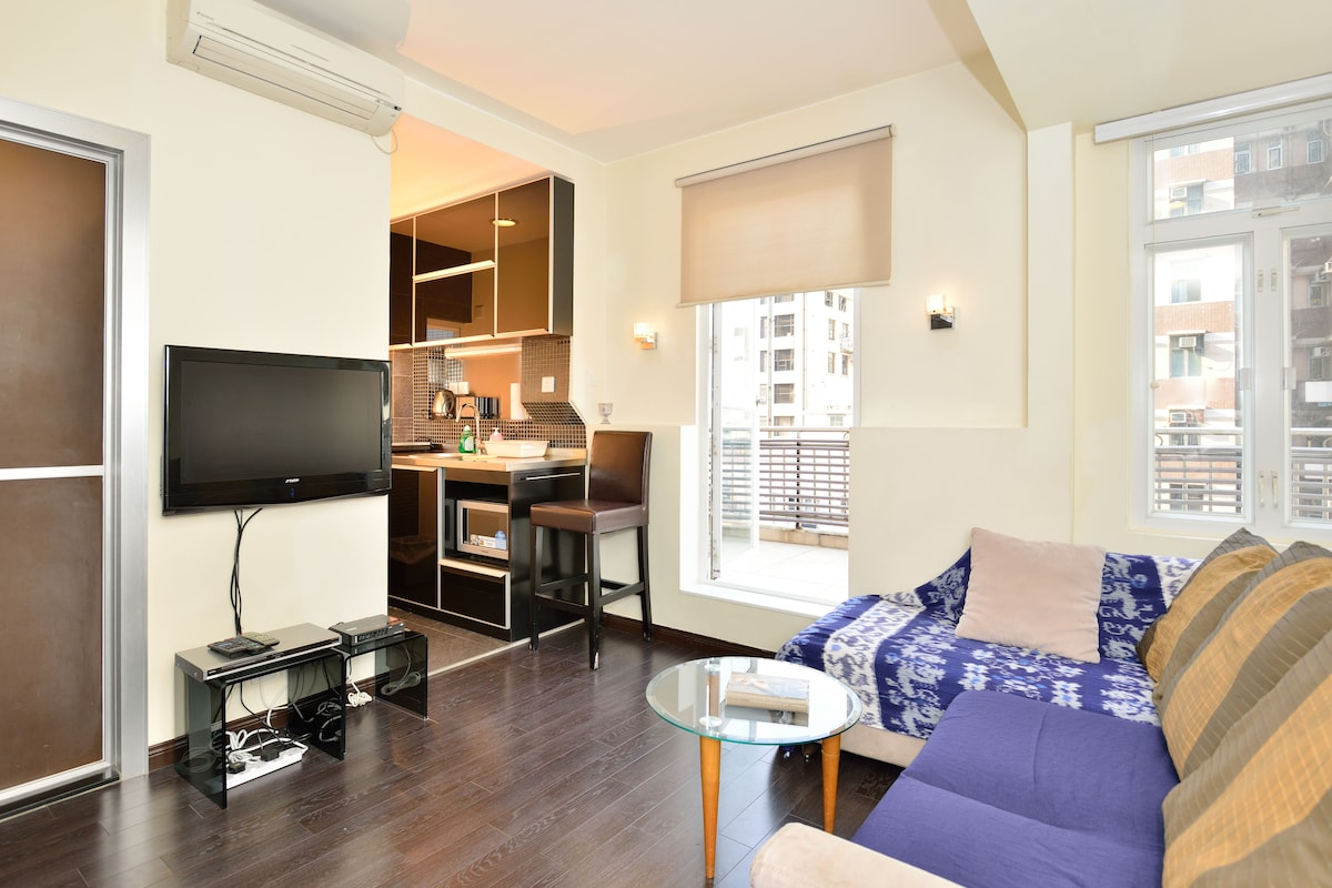 Flat with private garden, Wanchai