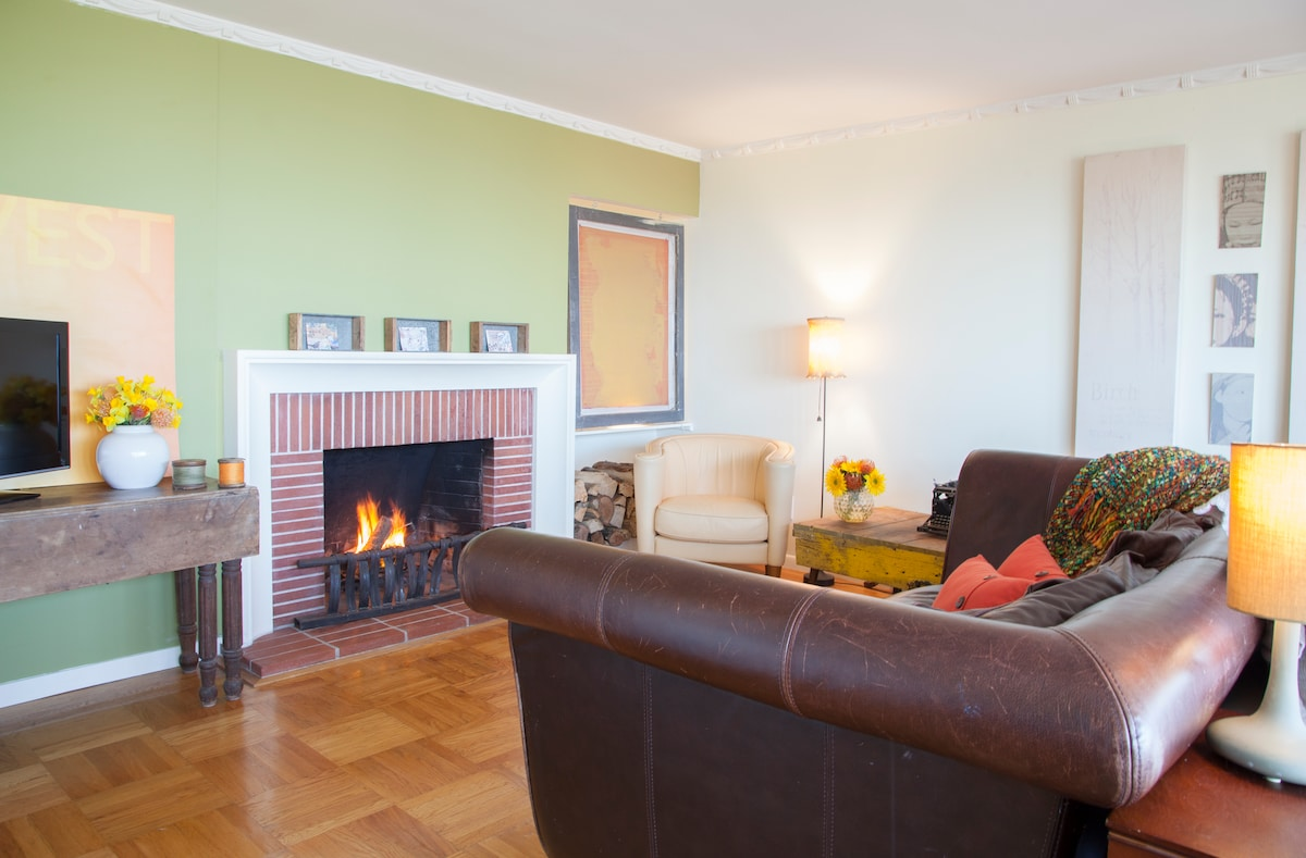 Knockout Panoramic View, Fireplace
