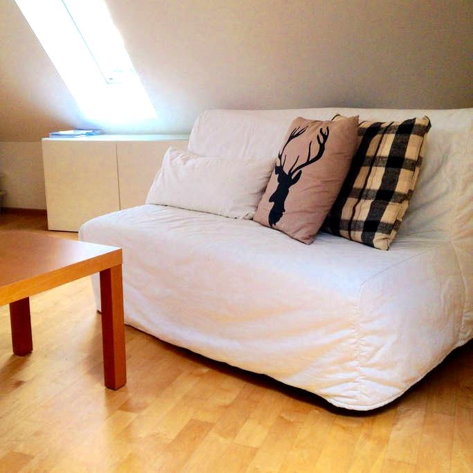 Bedroom with king size bed near city - Gräfelfing