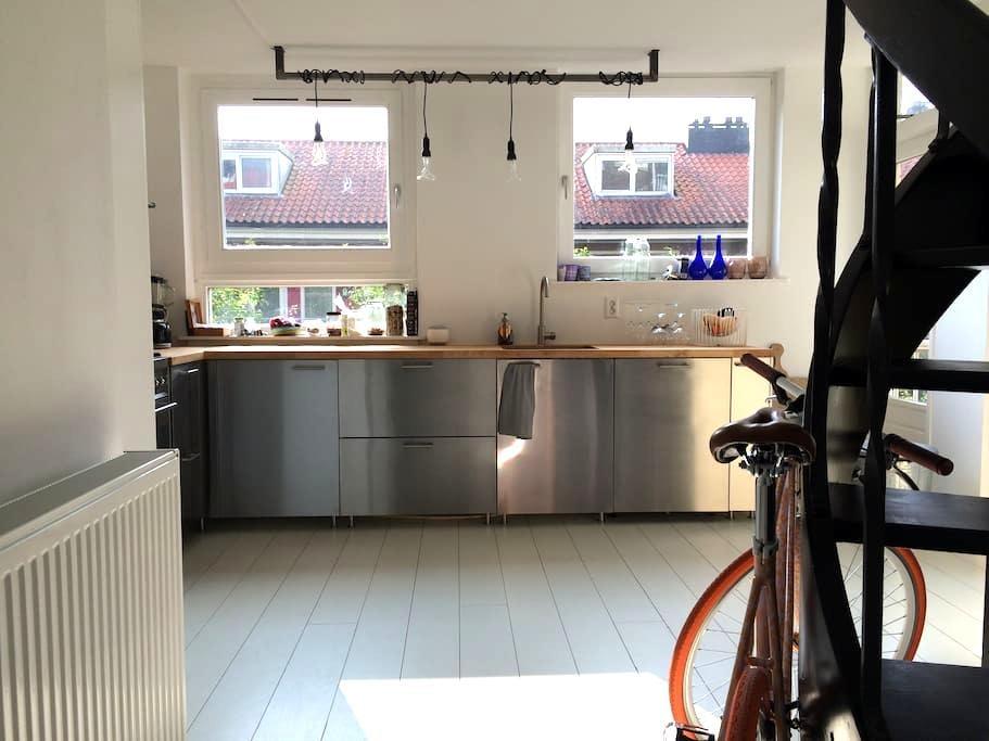 White spacious apartment, east Amsterdam (100m2) - Amsterdam - Condominio