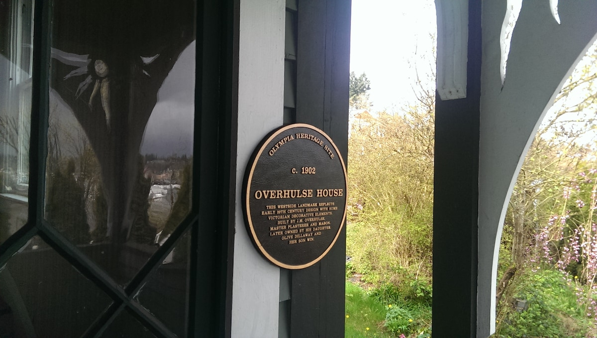 Historical plaque for Overhulse House.