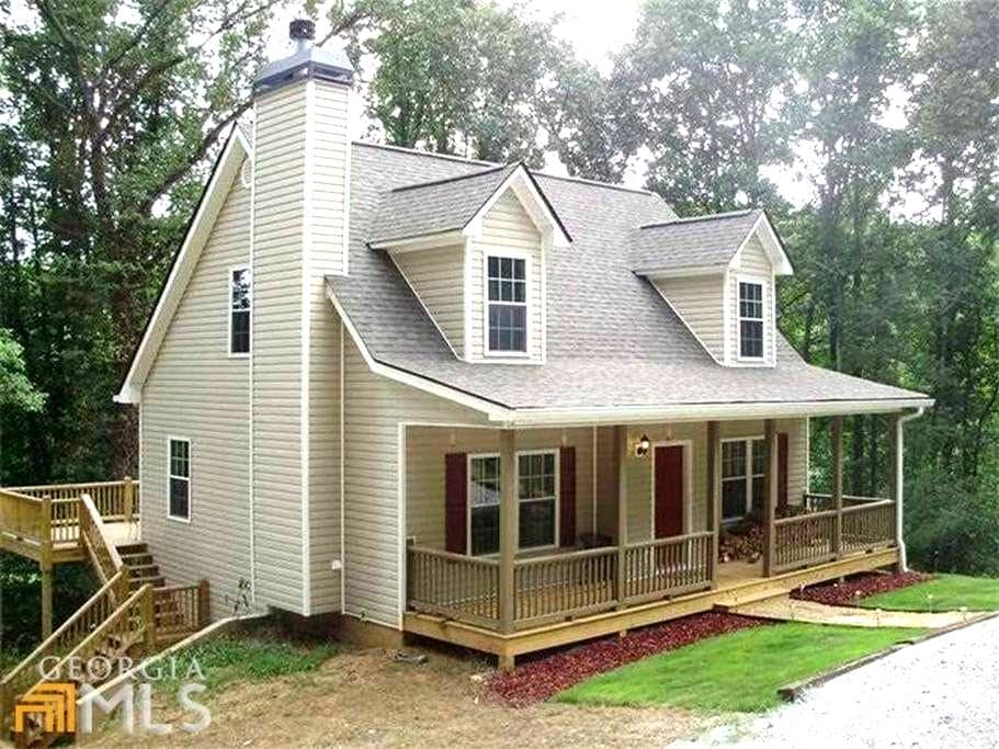 Brand New Cottage On Etowah River Near Wineries - Dahlonega - Hytte