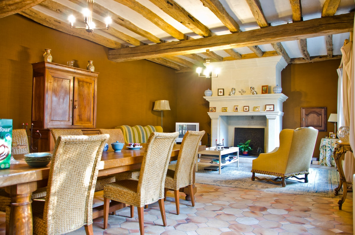 The dining room/breakfast area where guests can relax 24/7