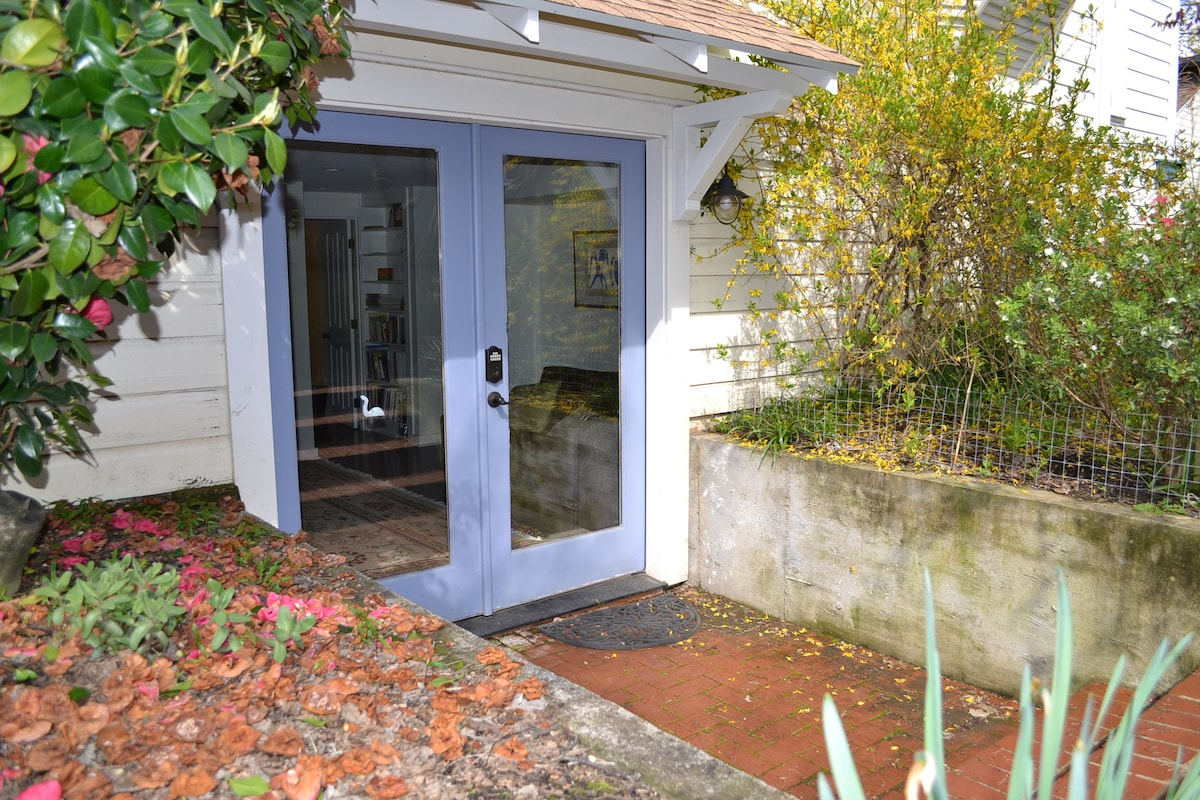 Separate keyless entrance for your comings and goings.