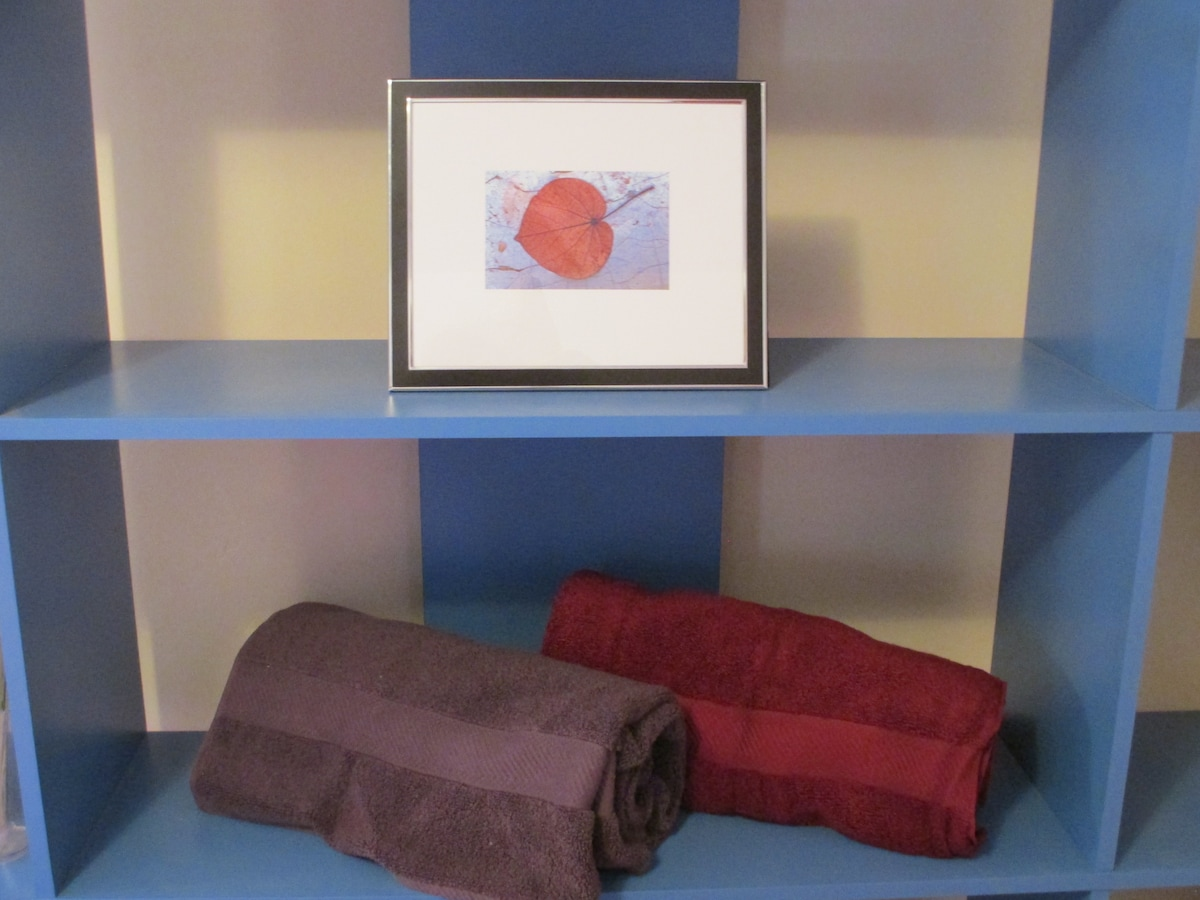 Royal Velvet towels . .  Plenty of space for your travel gear . . .