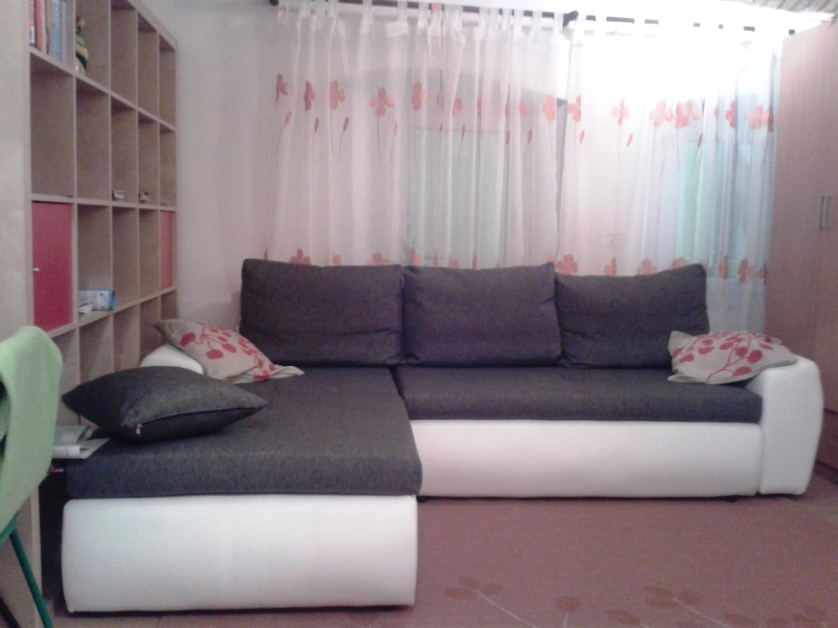large sofa - can be converted into double bed