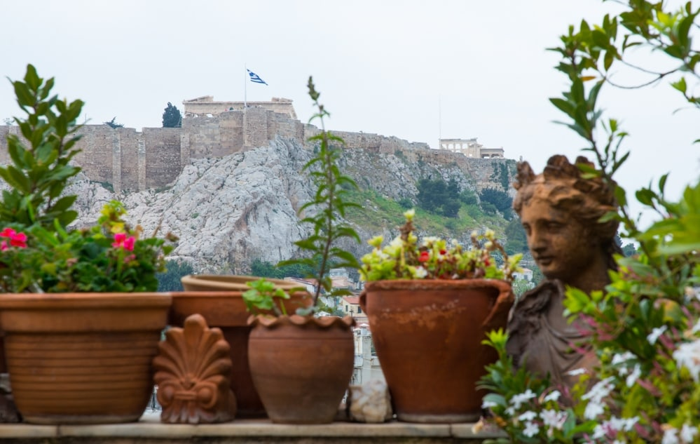The Acropolis from our western veranda