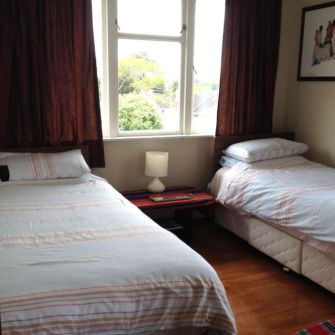 Twin beds, ideal for a travelling pair of friends. - Papakura - Townhouse