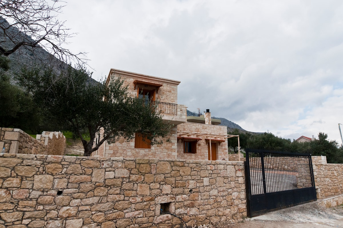 The house is above the village, which can be reached in a few minutes by foot