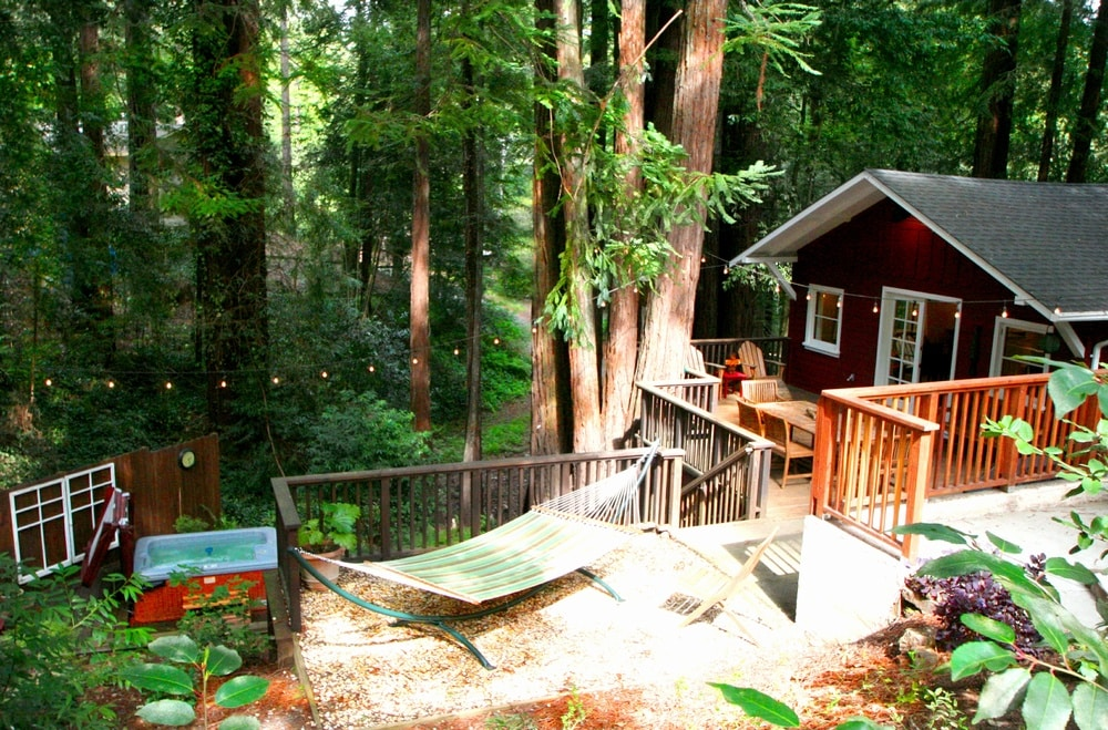 Welcome Home to Little Red House Plus!  4 bedroom, 2 bath redwood escape.
