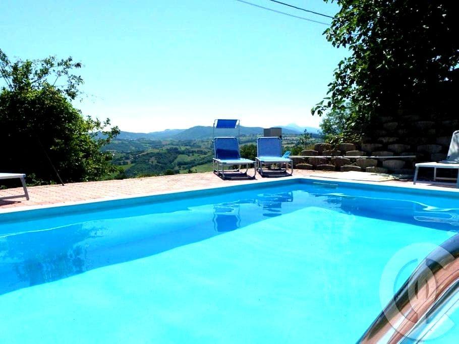 Country villa with view, pool, WIFI - Sassoferrato - Casa