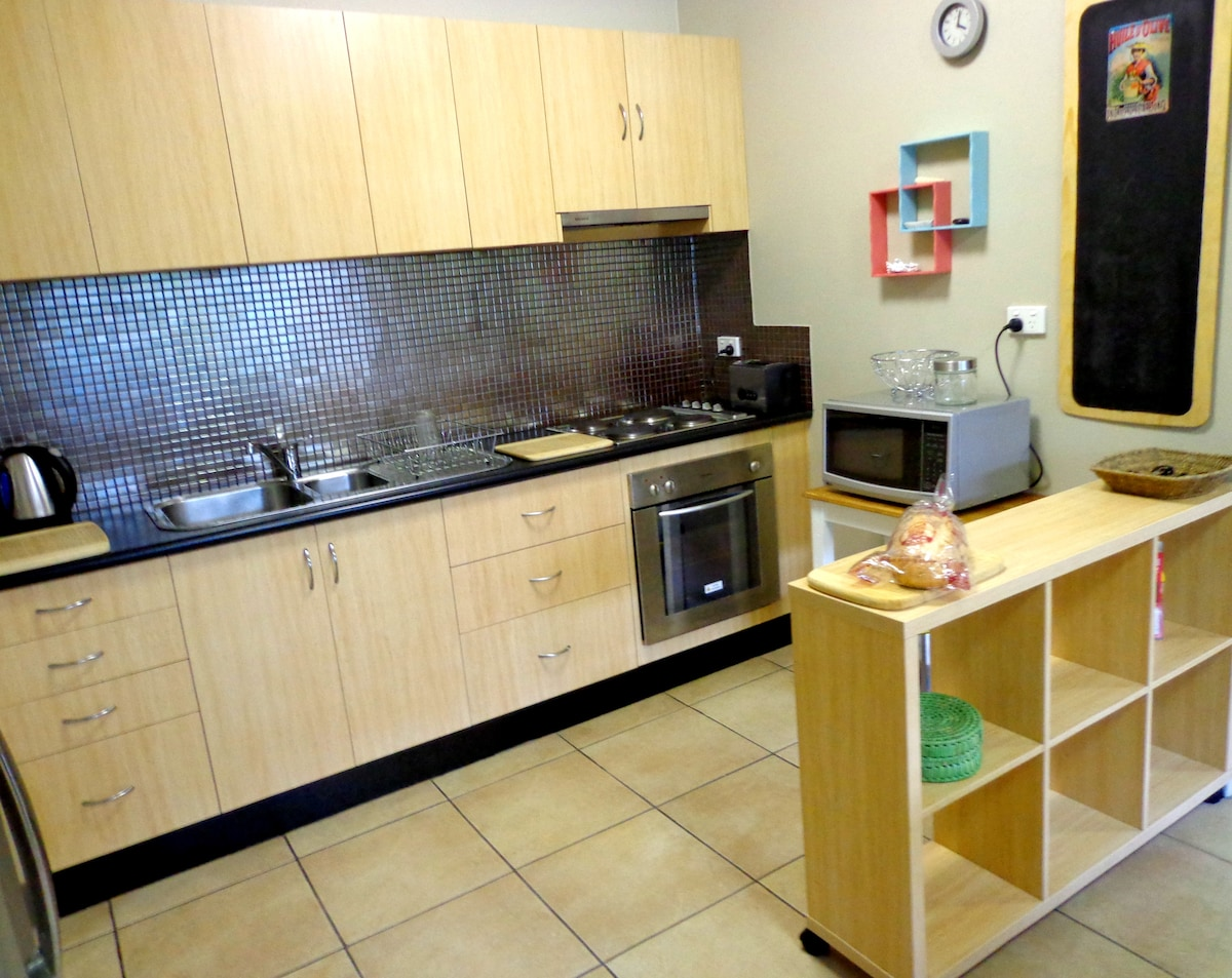 Great kitchen space...Self catering, the perfect way to sample the local produce.