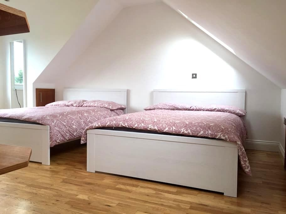 Charming Private Room 2 Dbl beds, ensuite (BA-V) - London - Rumah