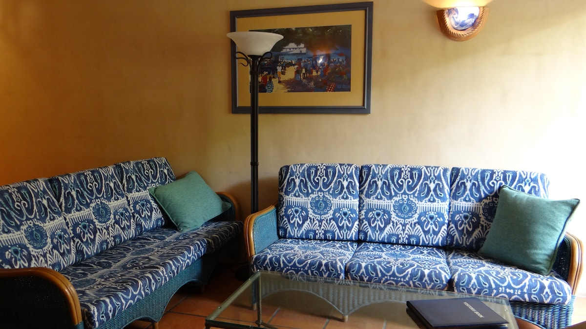 lounges we have 2 sofas all newly covered 2014 with lovely cushions