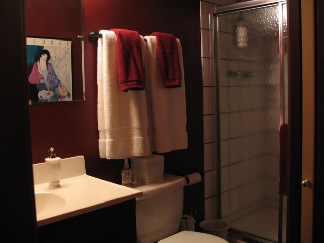 Bathroom with Shower - Plush Towels.