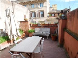Penthouse terrace Rome center fiori