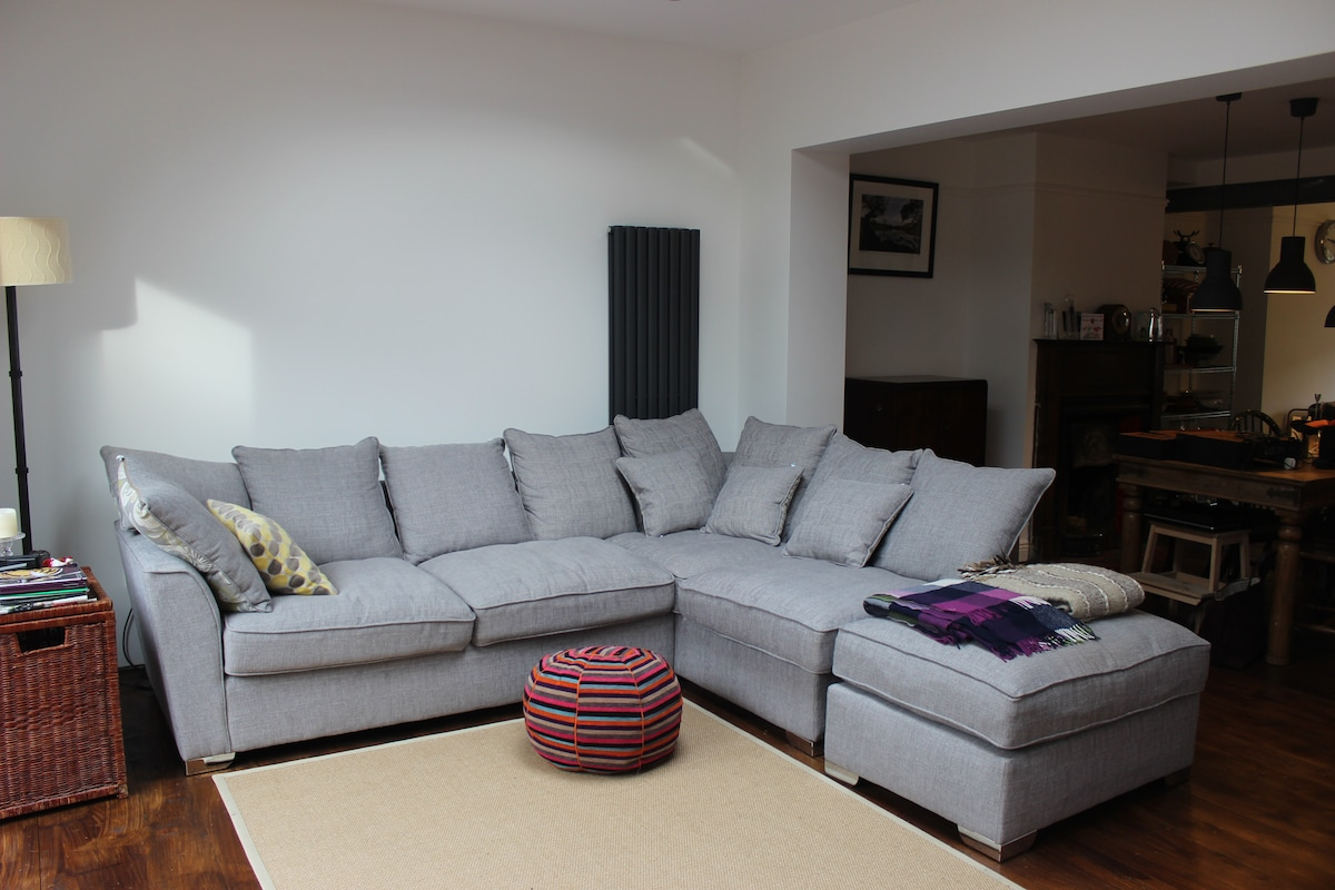 Comfortable couch and area to relax