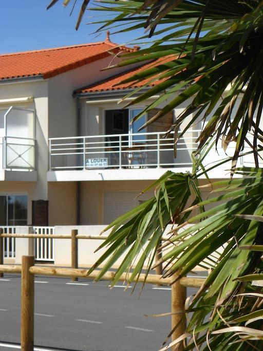 T2 balcon vue sur mer - Longeville-sur-Mer - Apartment