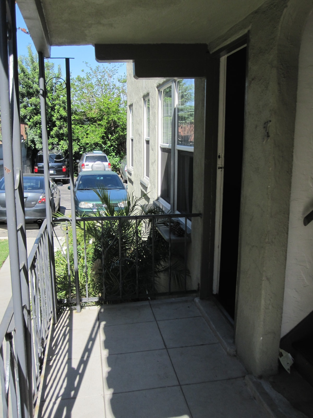 Front door entrance, just steps from the back parking lot with your own dedicated spot.